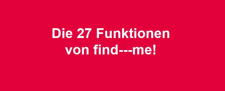 27 Funktionen von find---me Lawinen- und Tiefschneebänder alle Funktionen