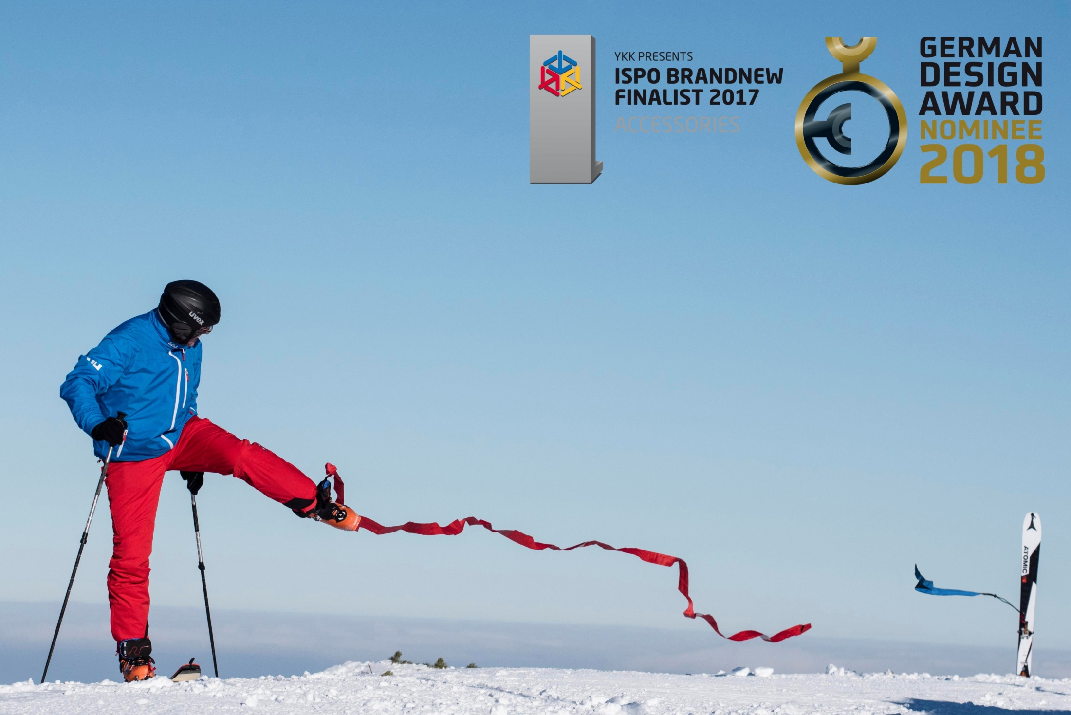 find---me Sollreisstelle verhindert Ankerwirkung in Lawine und VErletzungen wenn Ski sich verhängt. Lawinenband Tiefschneeband