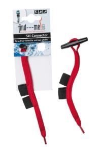 Ski-Connectoren für ein zweites Paar Ski. Ergänzung zu find---me Lawinen- und Tiefschneebänder